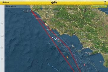 La posizione del CN Riva di Traiano