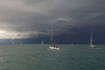A Riva di Traiano oggi due prove con pioggia e vento